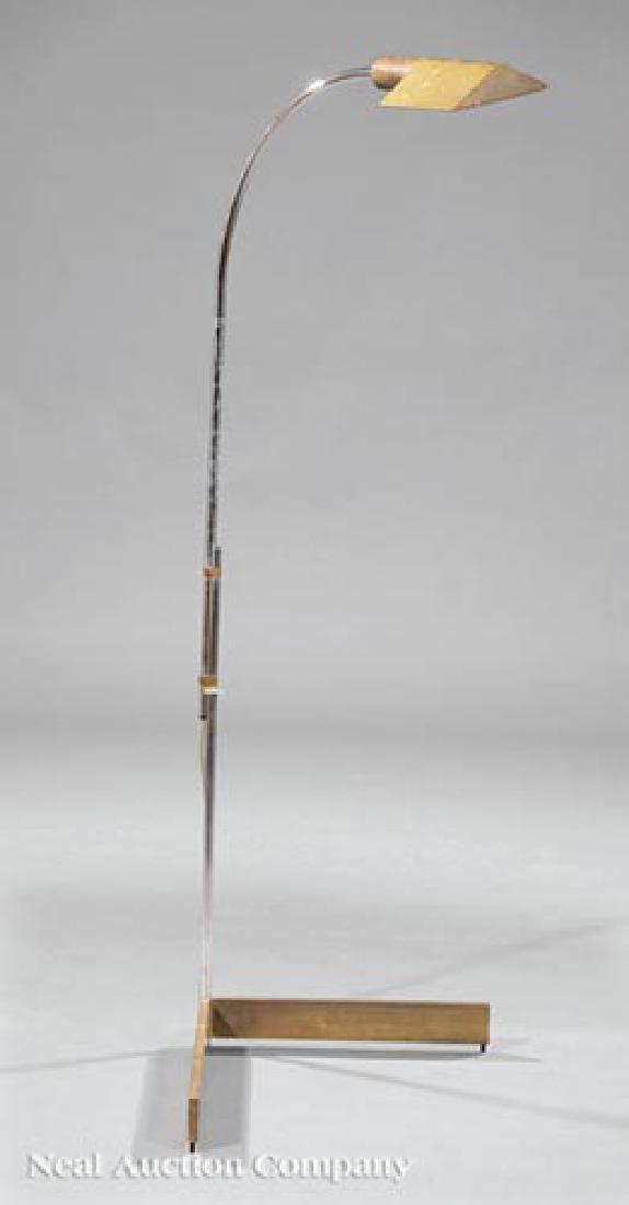Cedric Hartma Brass and Steel Floor Lamps - 2