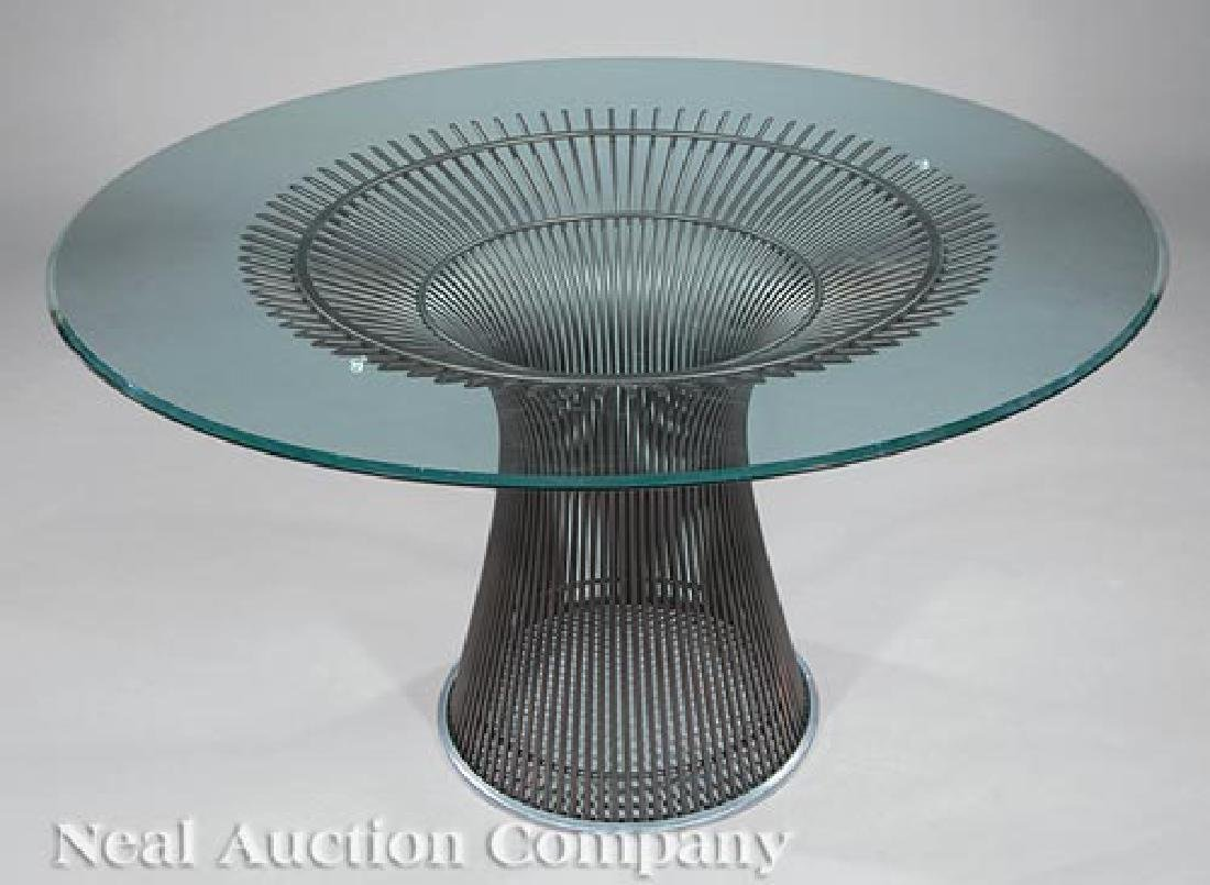 Knoll Bronzed Steel and Glass Dining Table - 2