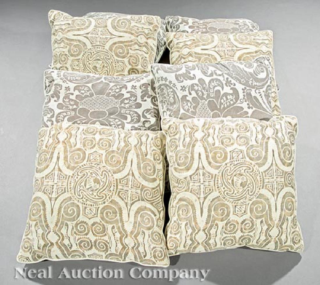 Set of Eight Fortuny Throw Pillows