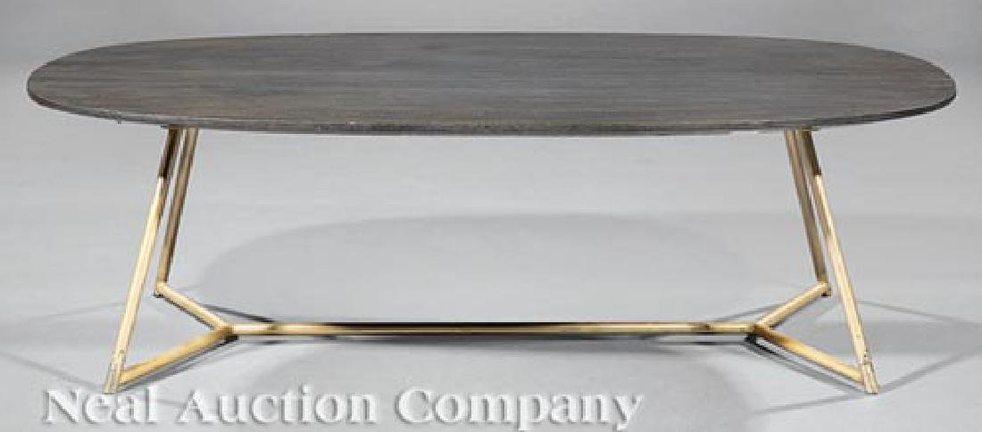 Painted Wood and Enameled Metal Coffee Table - 2