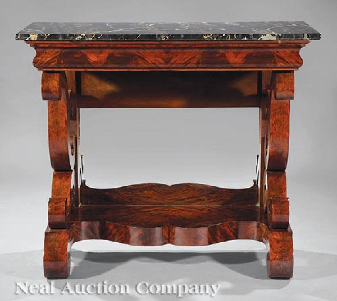 Late Classical Carved Mahogany Pier Table - 2