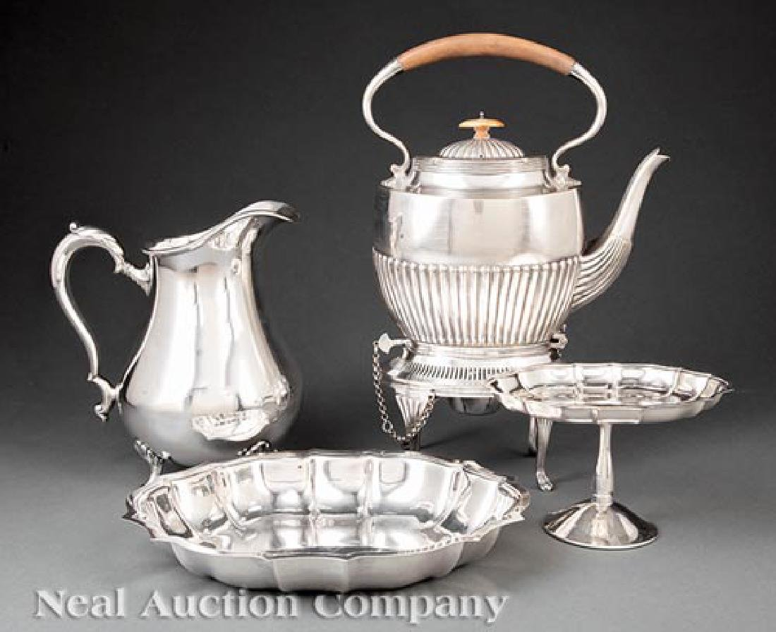 Group of Silverplate Table Objects