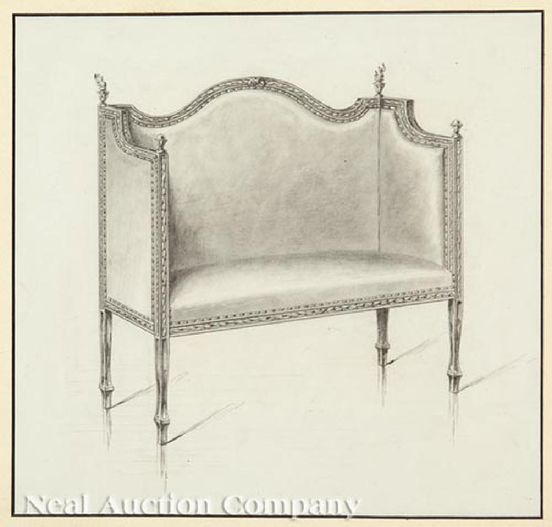 Six Framed Furniture Renderings - 5