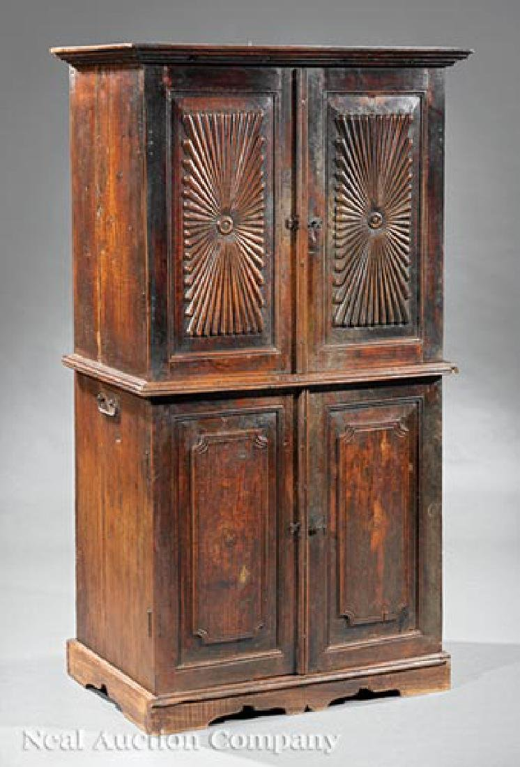 Anglo-Colonial Carved Walnut Cabinet