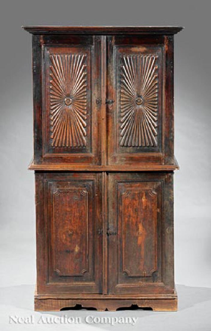 Anglo-Colonial Carved Walnut Cabinet - 2