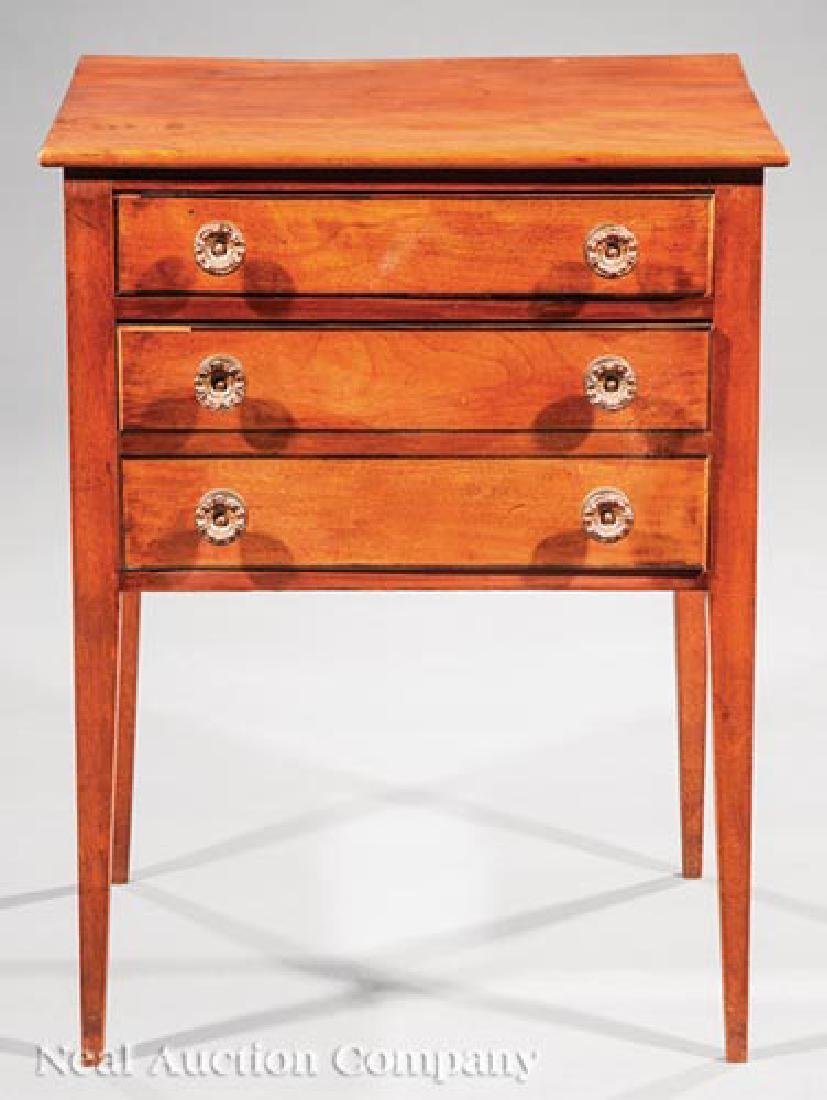 American Late Federal Inlaid Mahogany Work Table - 2