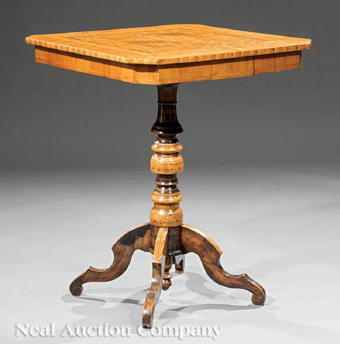 Dutch Marquetry and Mixed Woods Side Table
