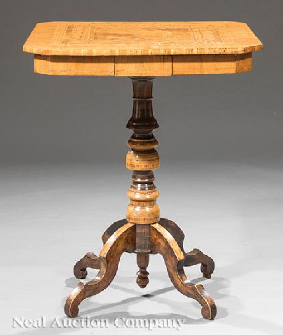 Dutch Marquetry and Mixed Woods Side Table - 2