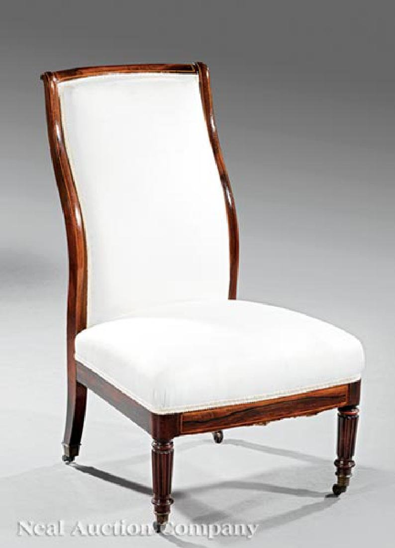 Regency Inlaid Rosewood Slipper Chair
