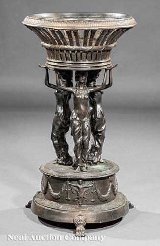 Neoclassical-Style Bronze Jardiniere