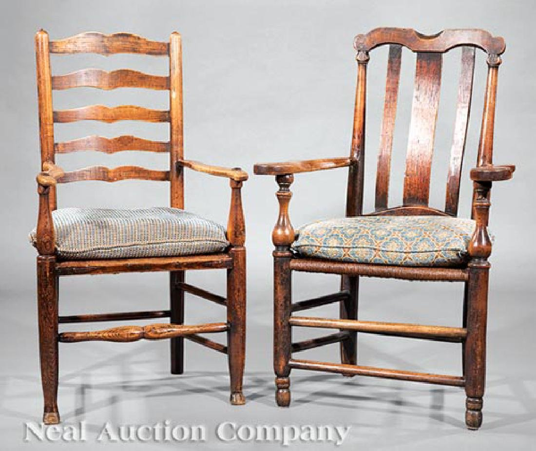 Two English Elm Armchairs