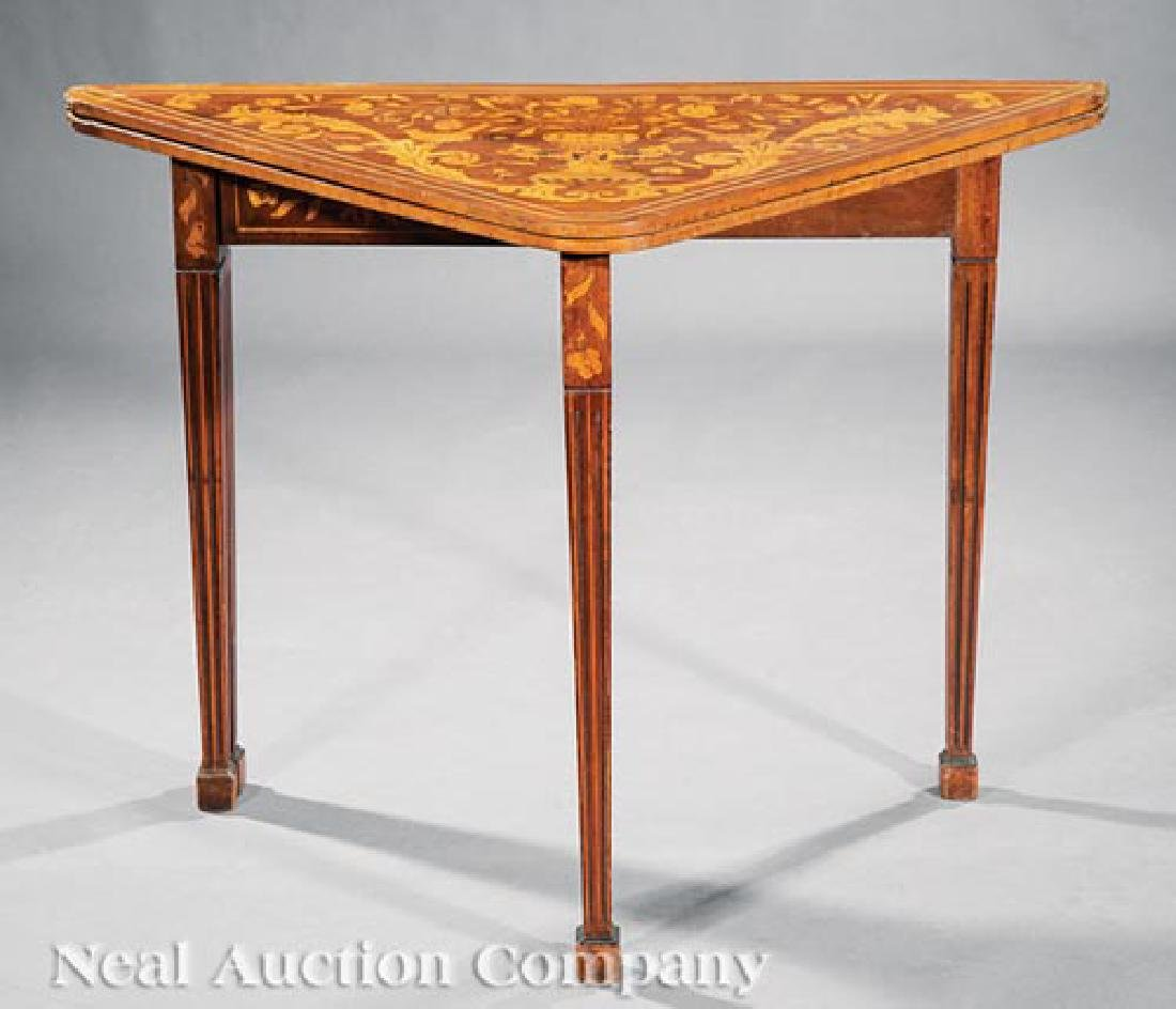 Dutch Marquetry Games Table