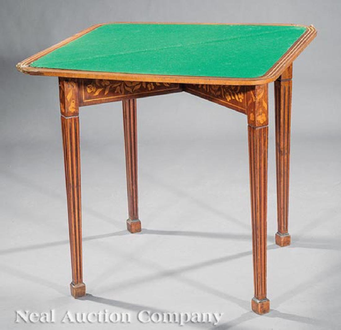 Dutch Marquetry Games Table - 2