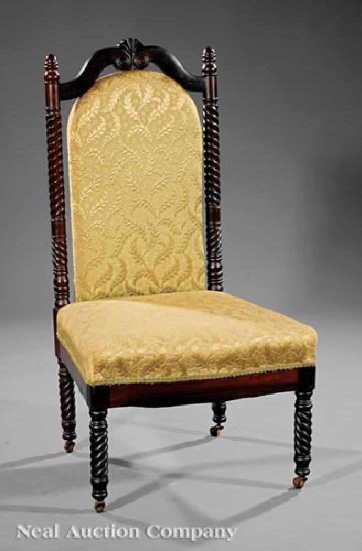 American Elizabethan Rosewood Reception Chair