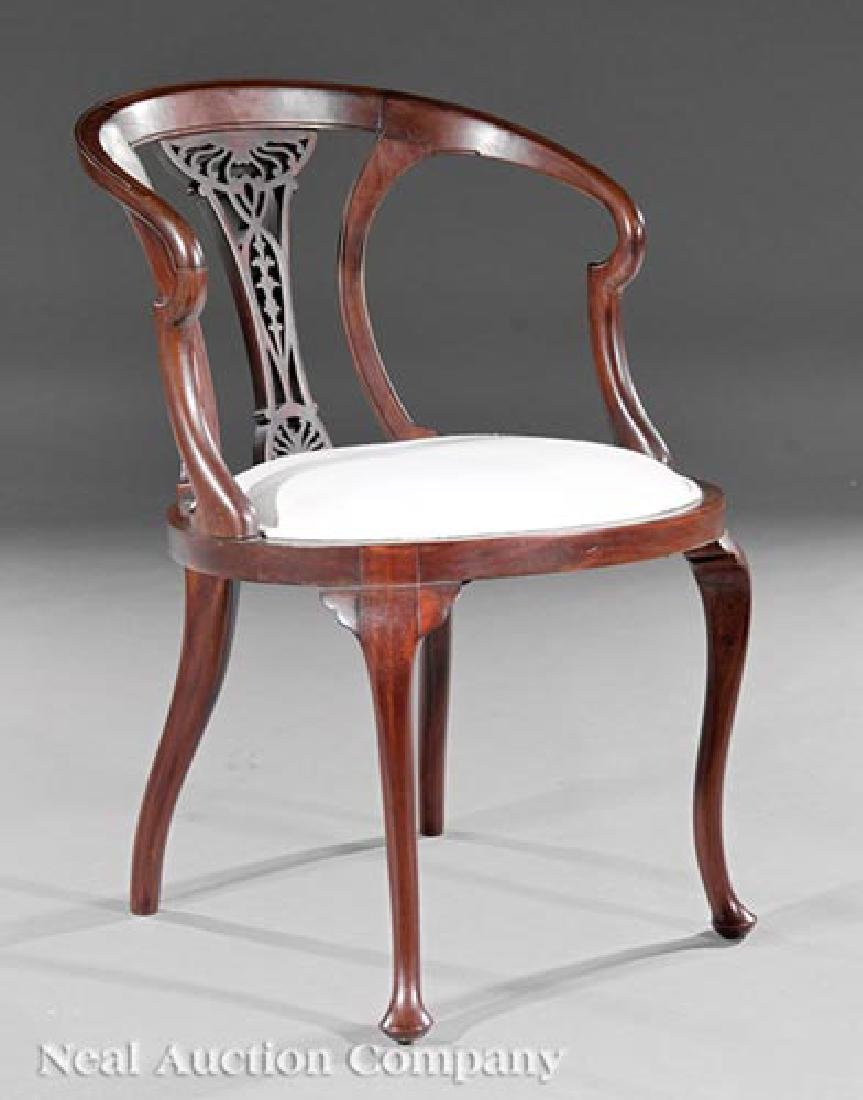 West Indies Carved Mahogany Lady's Chair