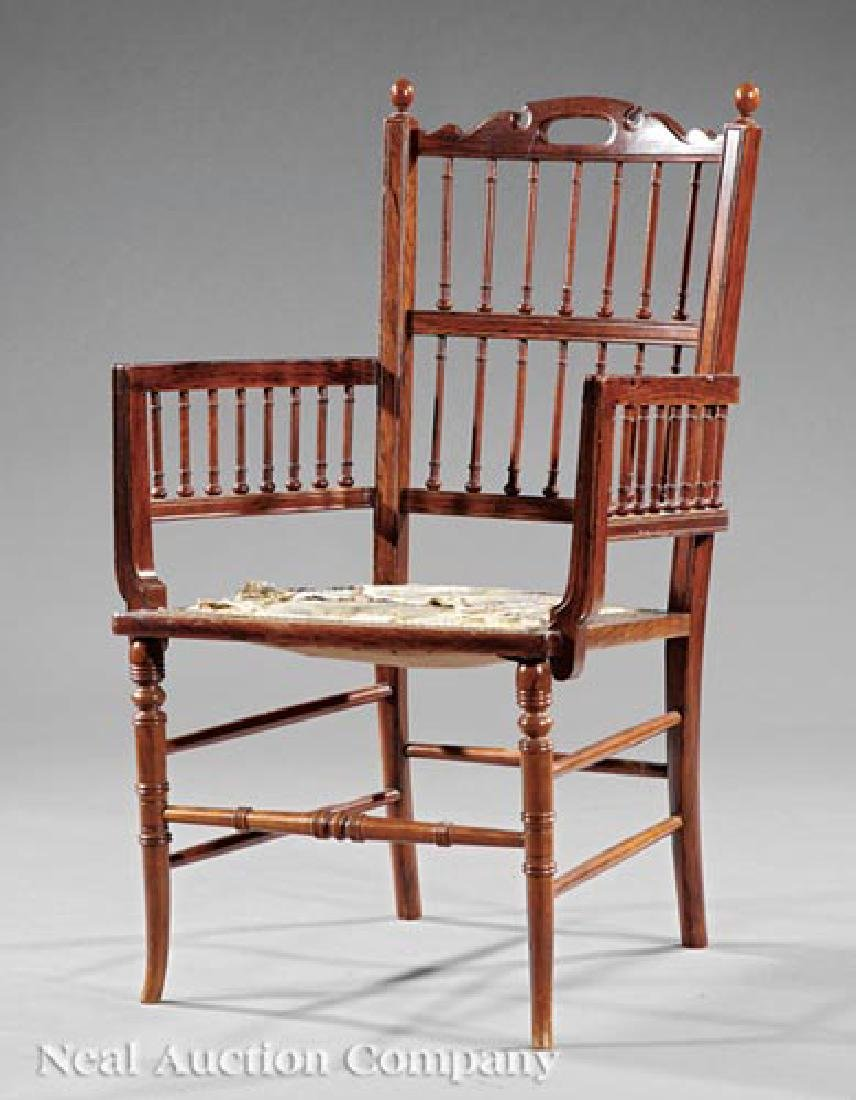 Aesthetic Carved Rosewood Armchair