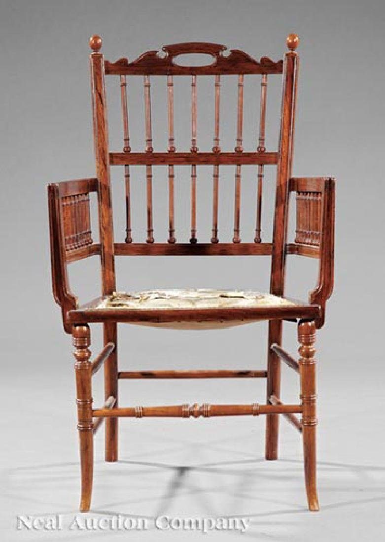 Aesthetic Carved Rosewood Armchair - 2