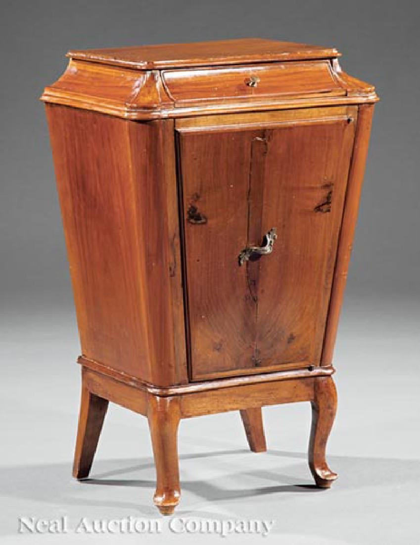 French Carved Walnut Bedside Commode
