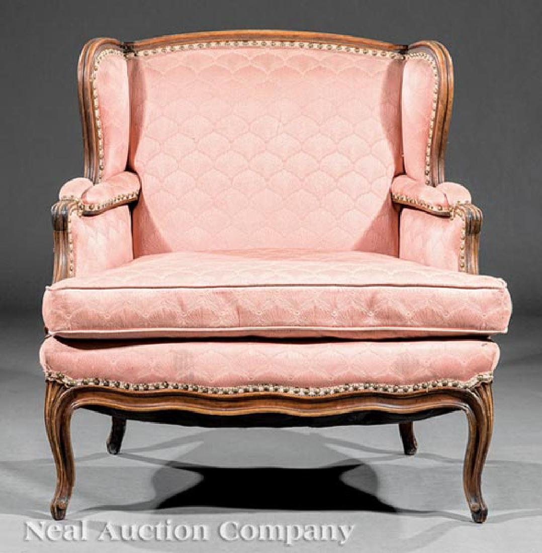 Louis XV-Style Carved Walnut Bergere - 2