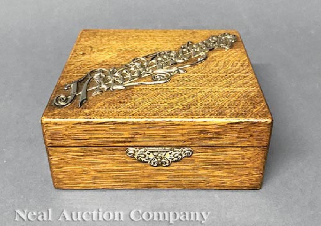 Oak Handkerchief Box