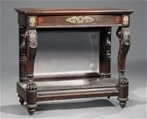Mahogany Pier Table attr Quervelle