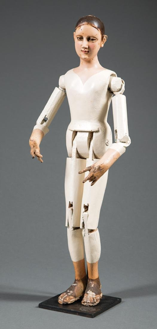 Articulated, Carved Wood Artist Model/Mannequin