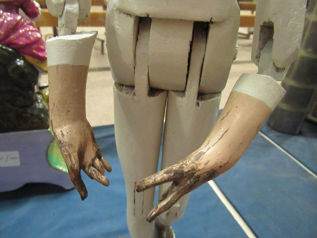 Articulated, Carved Wood Artist Model/Mannequin - 4