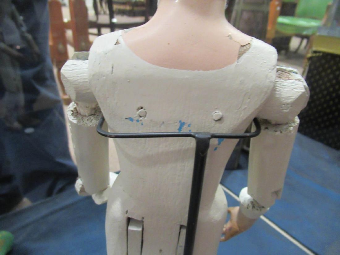 Articulated, Carved Wood Artist Model/Mannequin - 6