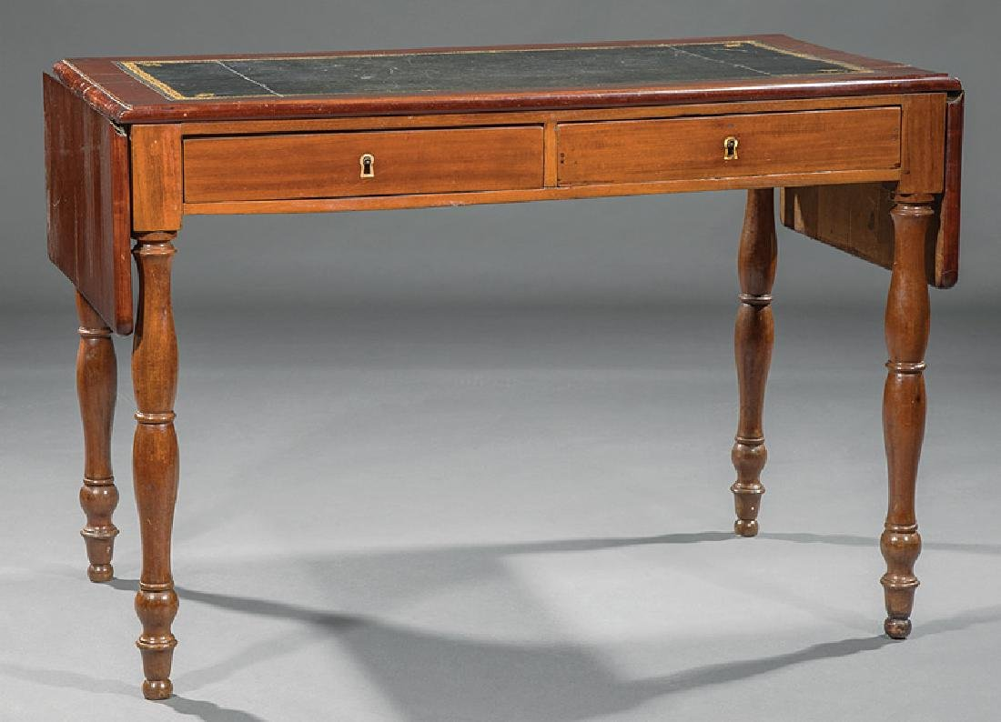 Louis Philippe Carved Cherrywood Writing Table