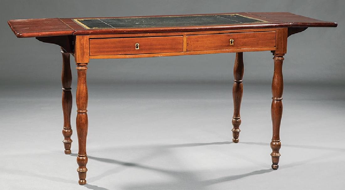 Louis Philippe Carved Cherrywood Writing Table - 2