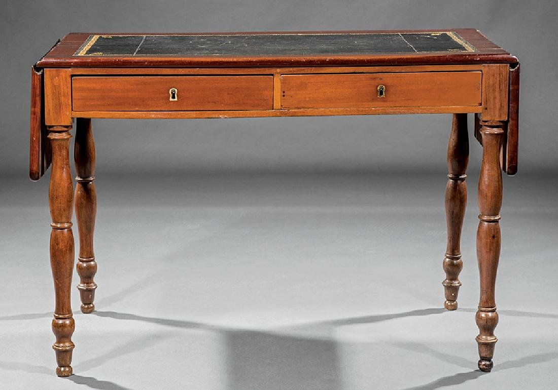 Louis Philippe Carved Cherrywood Writing Table - 3