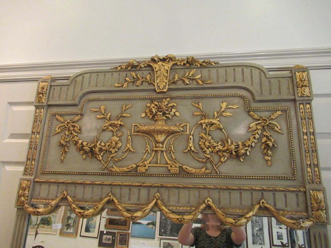 Italian Painted and Parcel Gilt Overmantel Mirror - 3