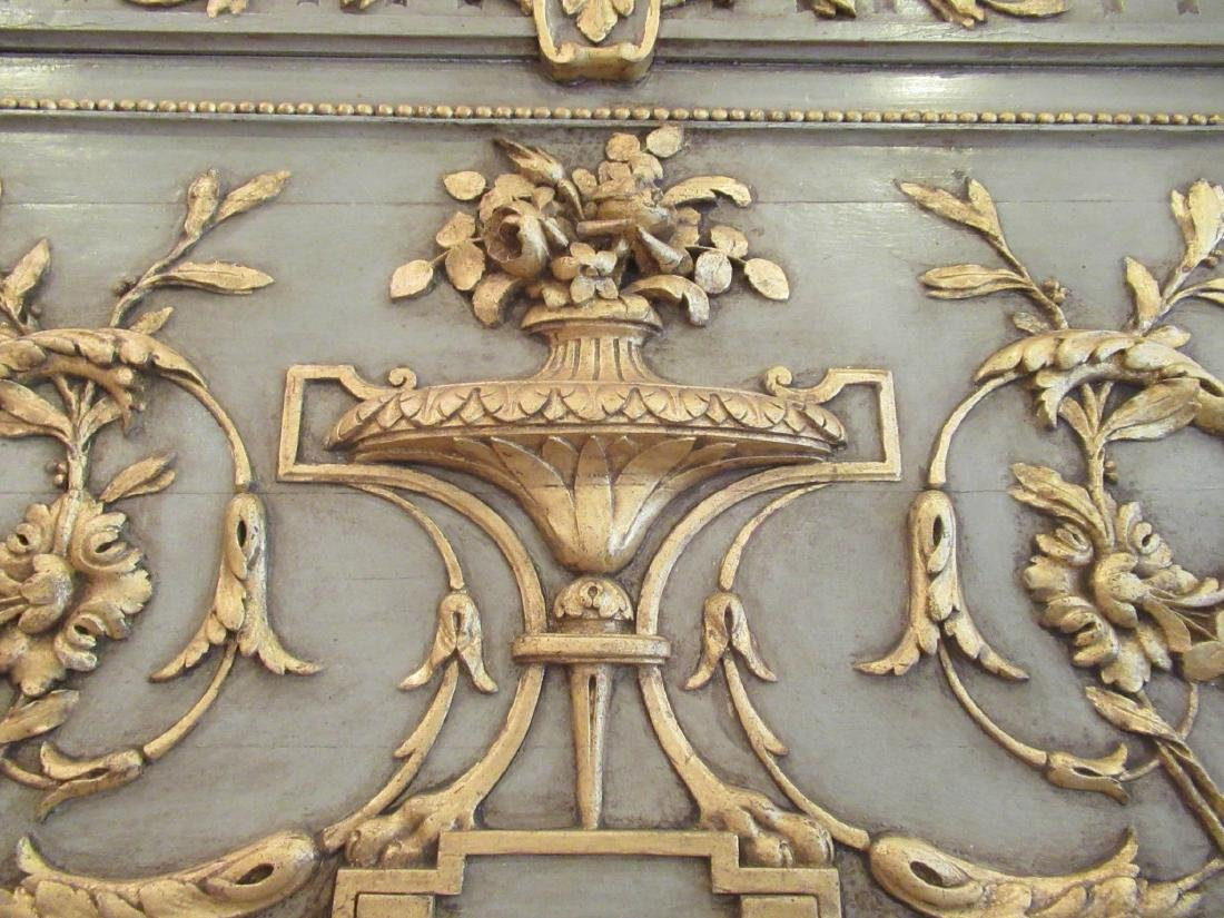 Italian Painted and Parcel Gilt Overmantel Mirror - 4