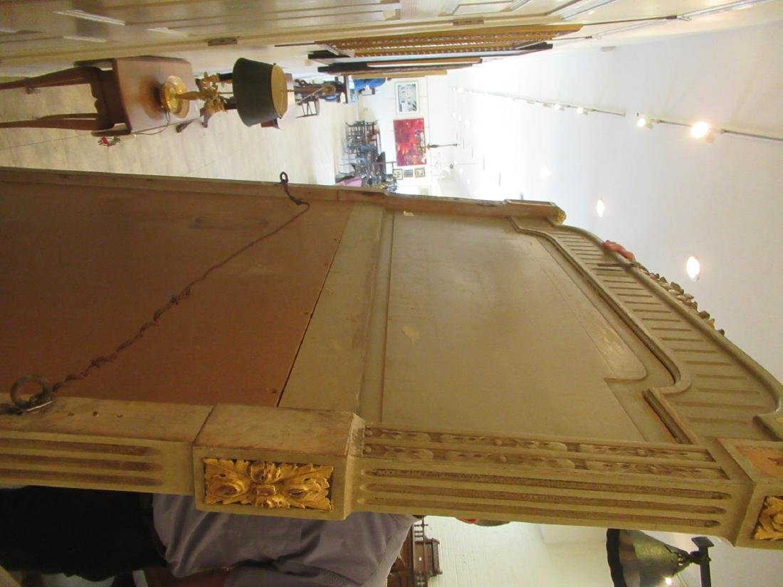 Italian Painted and Parcel Gilt Overmantel Mirror - 6