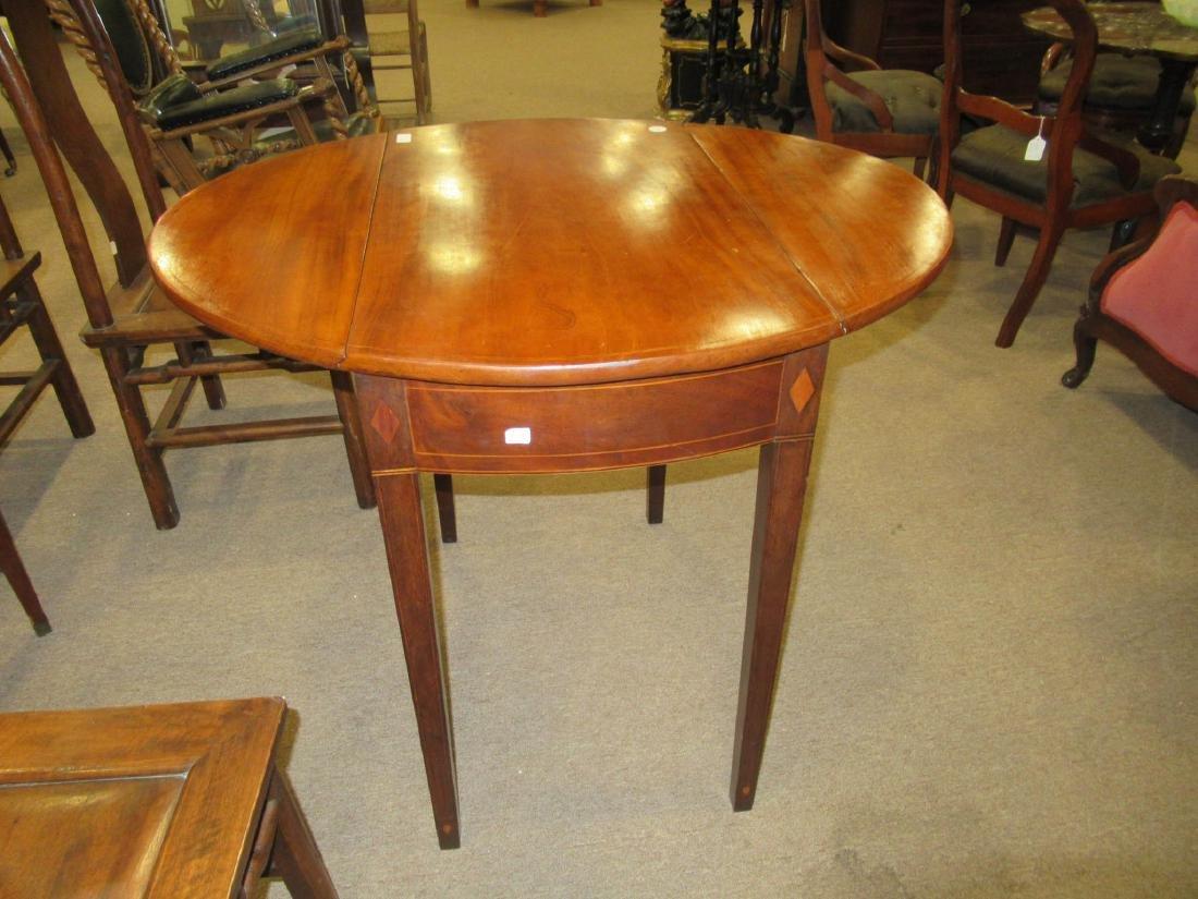 American Federal Inlaid Mahogany Pembroke Table - 8