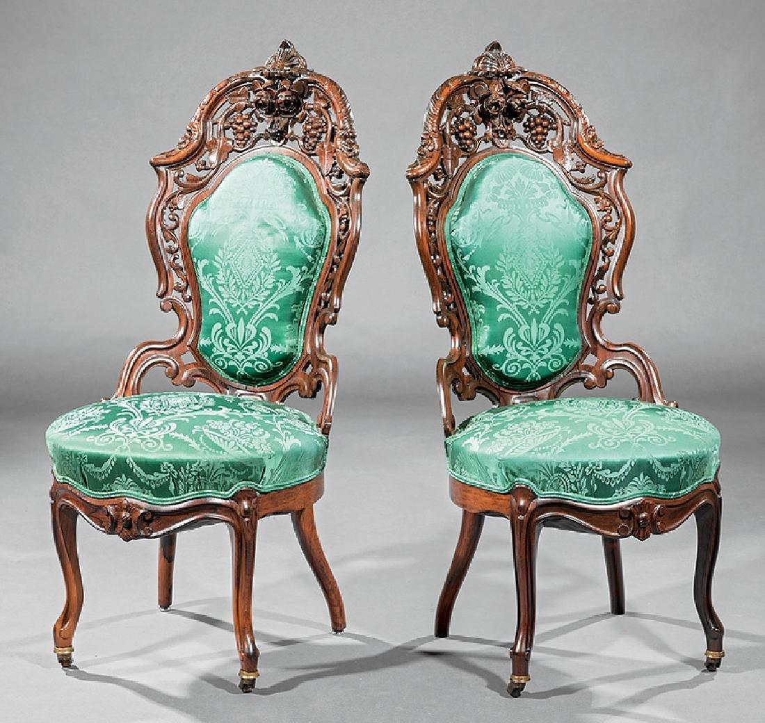 Rosewood Side Chairs, attr. Meeks