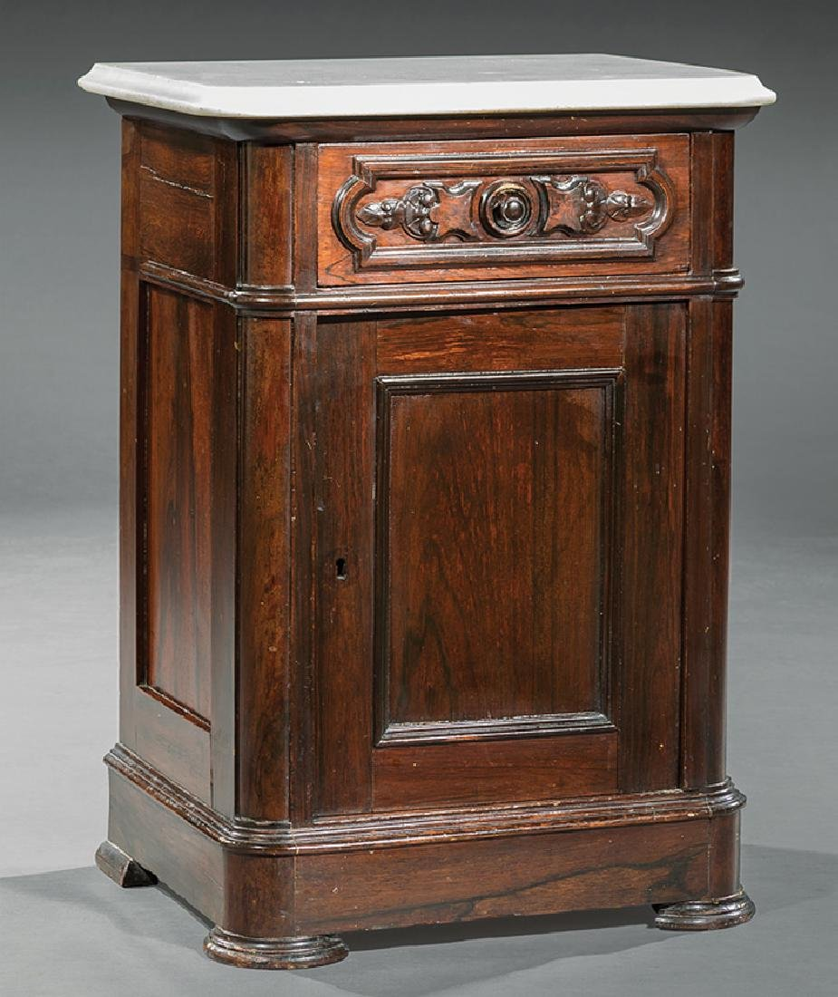Rosewood and Grained Bedside Commode