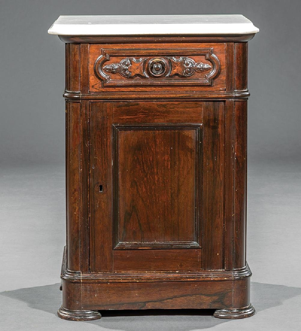 Rosewood and Grained Bedside Commode - 3