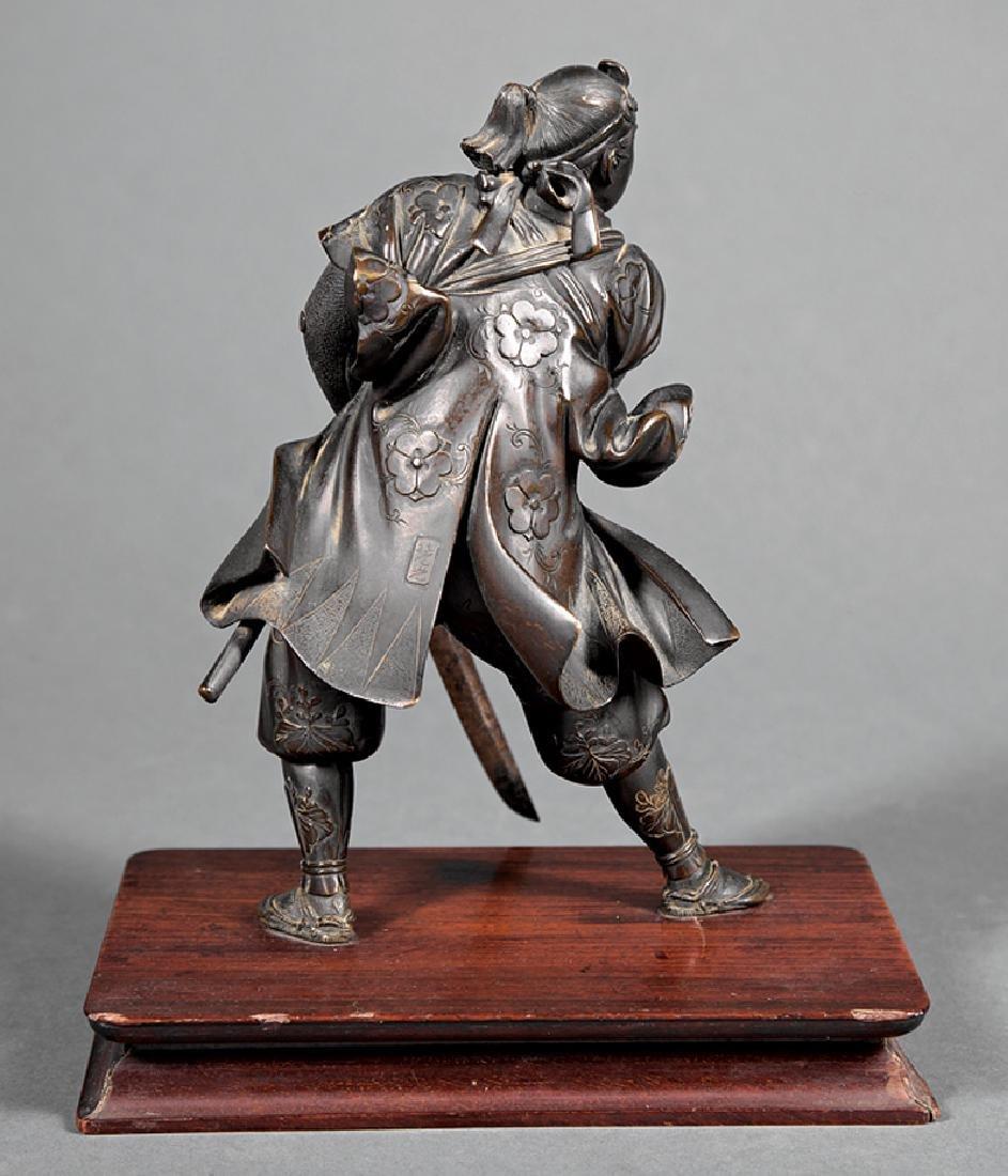 Japanese Bronze Figure of a Warrior - 2