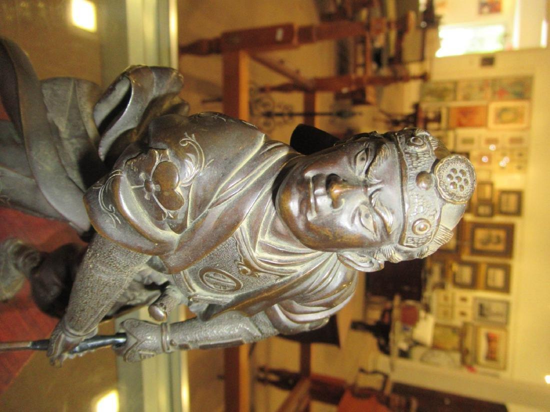 Japanese Bronze Figure of a Warrior - 4