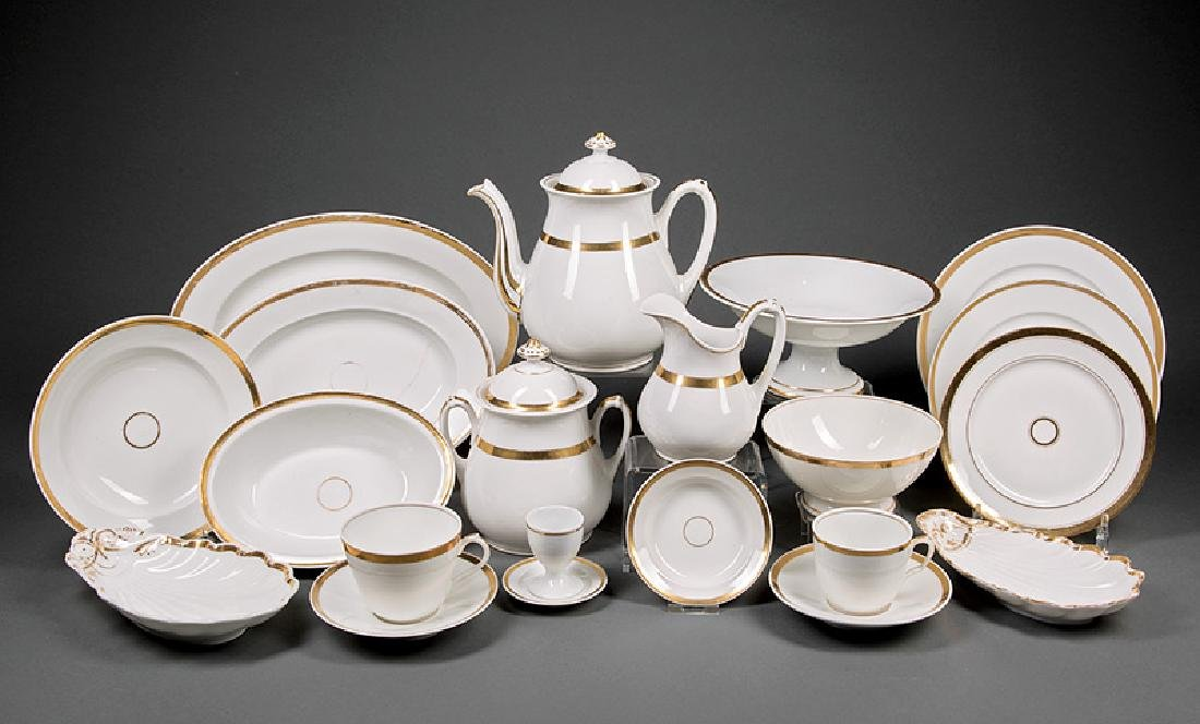 """Paris Porcelain """"Anneau d""""or"""" Table Service"""