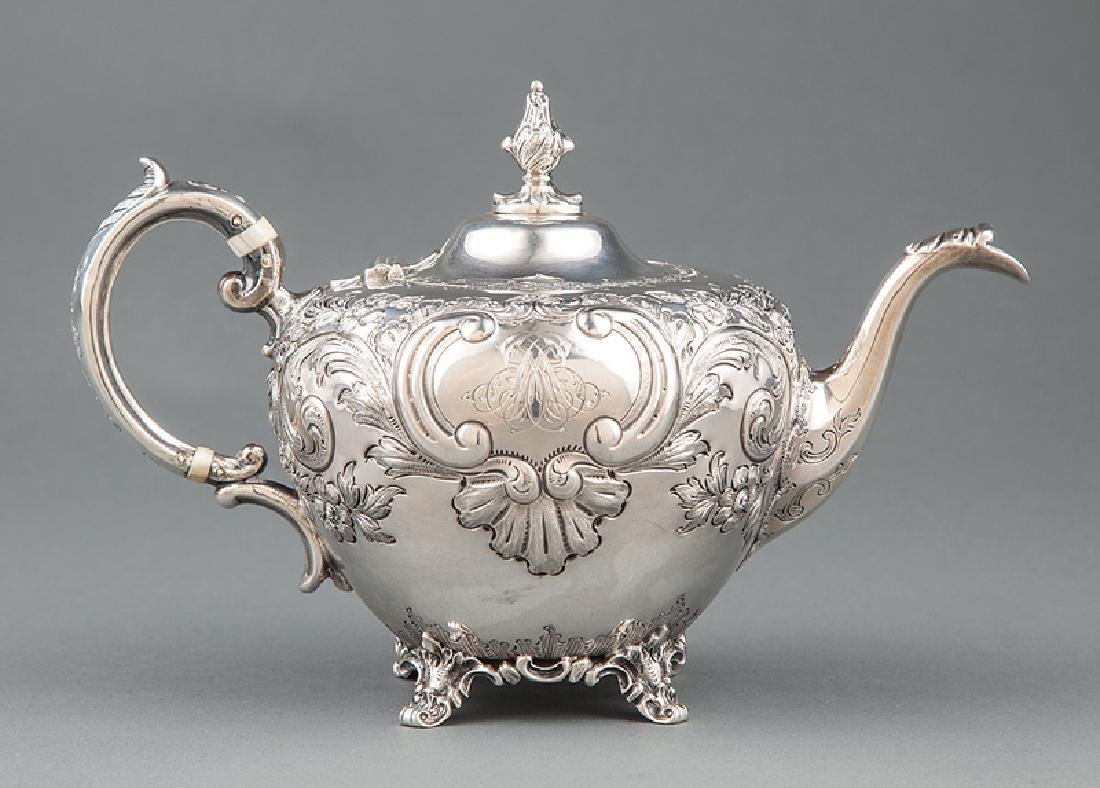 Victorian Sterling Silver Teapot, Roberts & Hall