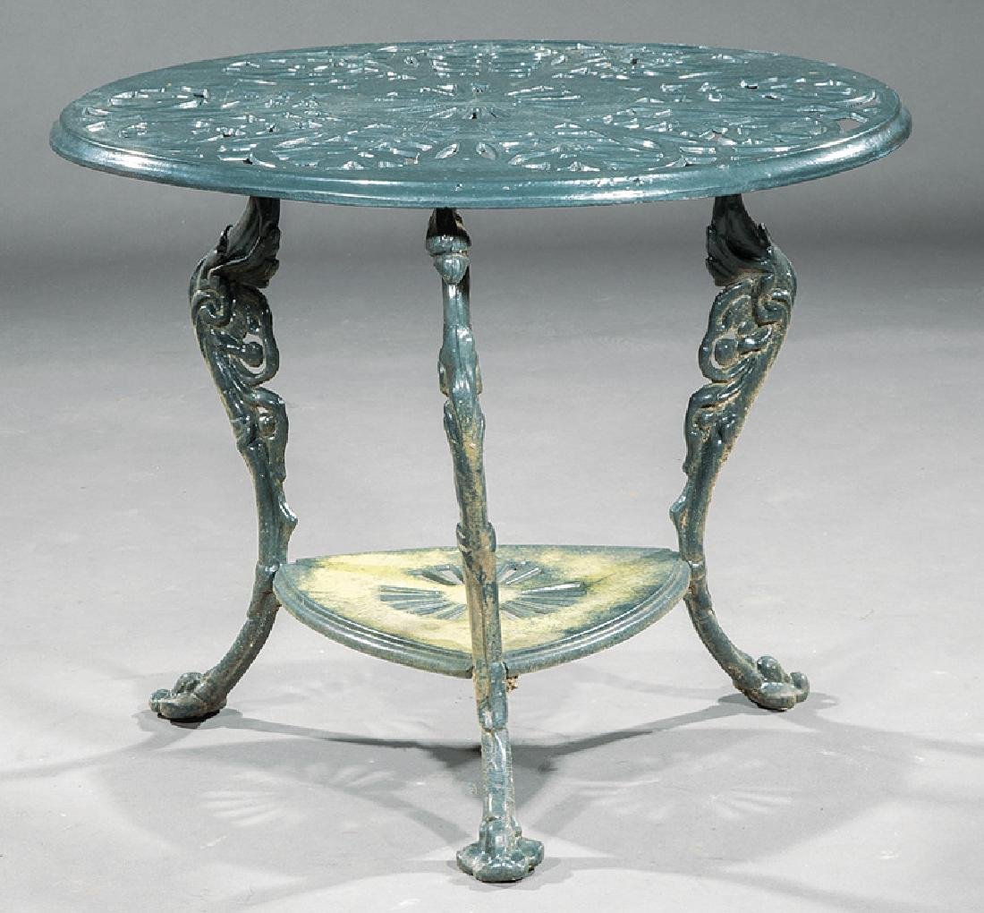 American Cast Iron Settee and Table - 3