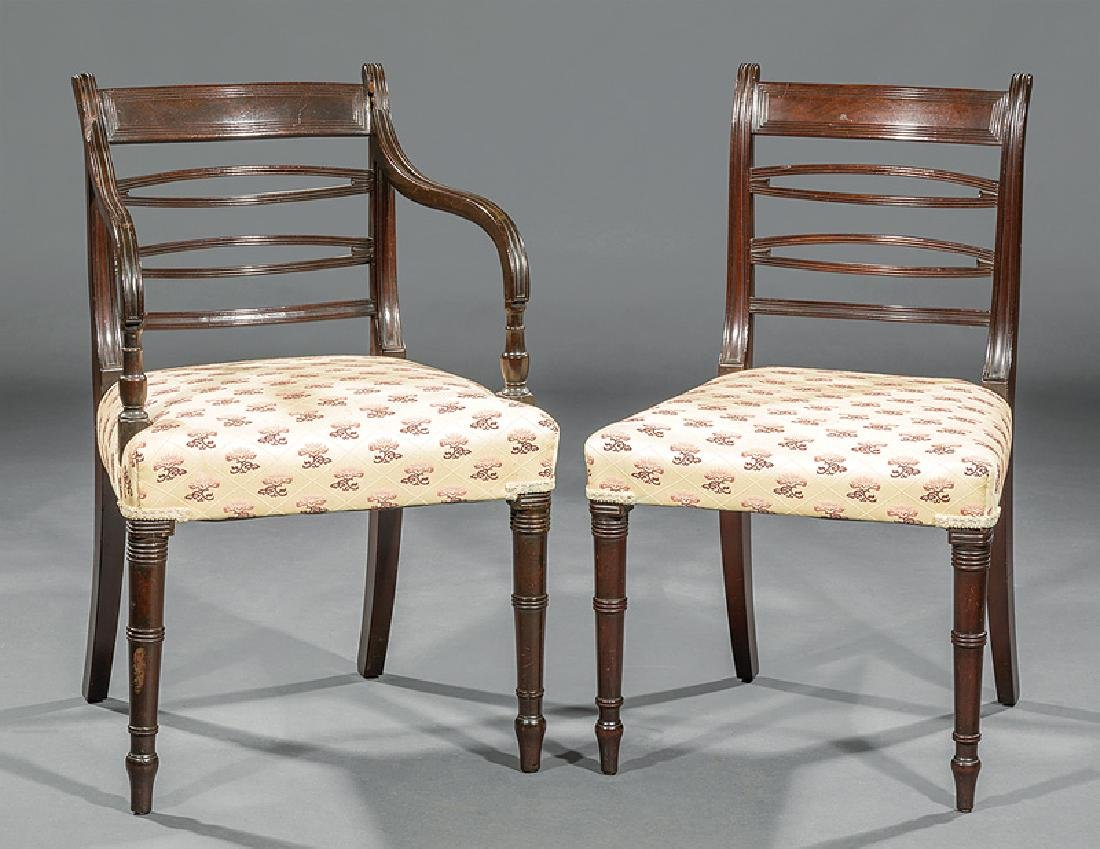 Set of Eight Regency Mahogany Dining Chairs - 2
