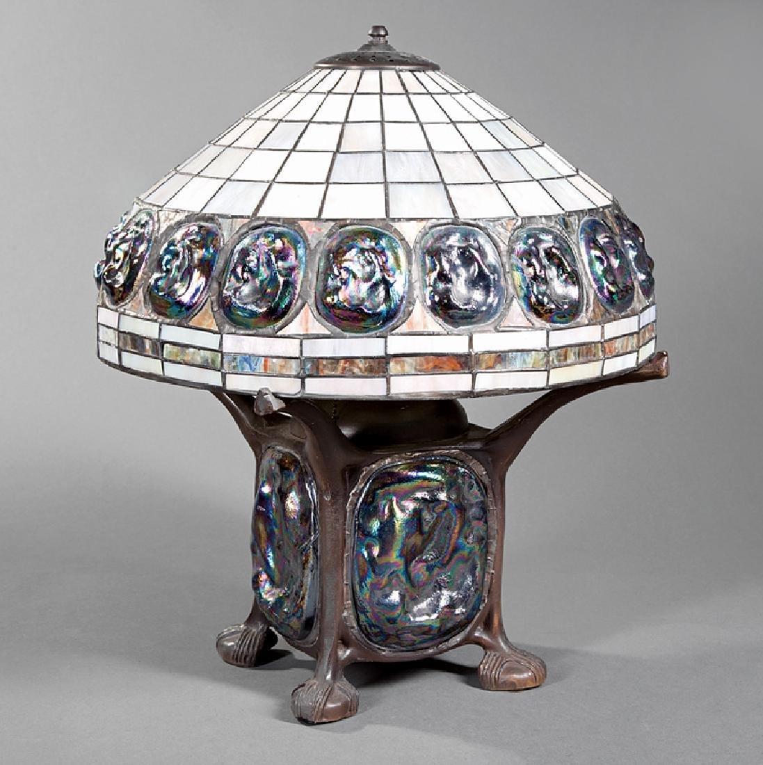 Tiffany-Style Leaded Art Glass Lamp