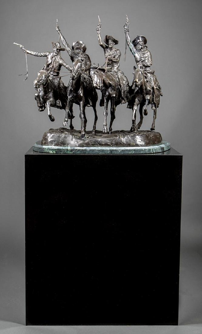 Bronze Figural Group of Four Cowboys