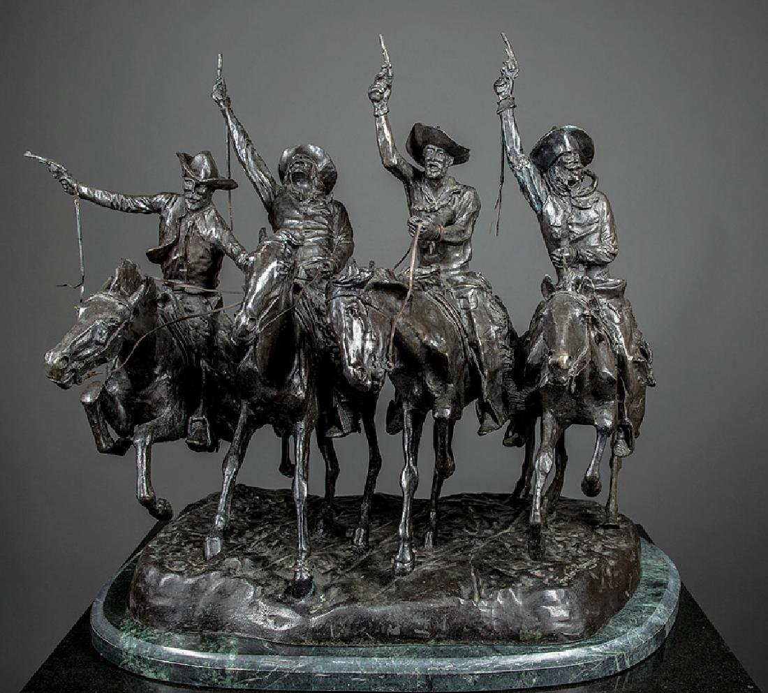 Bronze Figural Group of Four Cowboys - 2