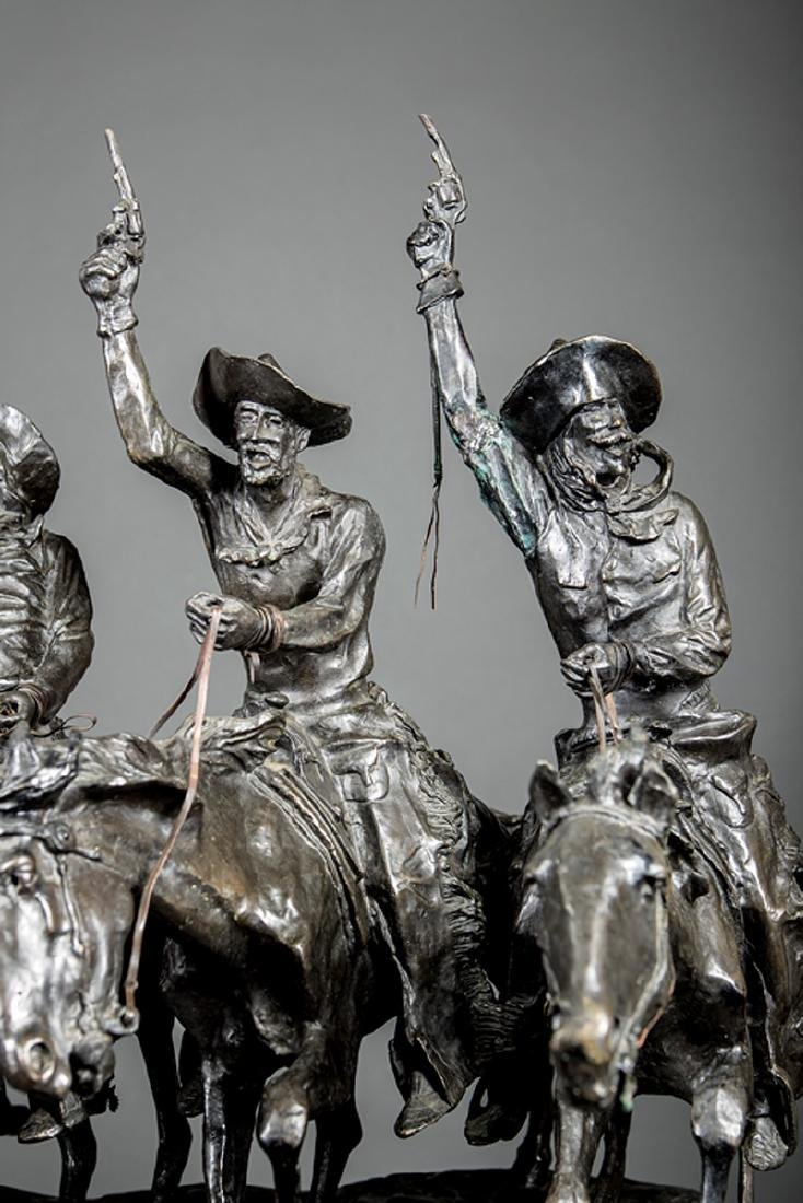Bronze Figural Group of Four Cowboys - 5