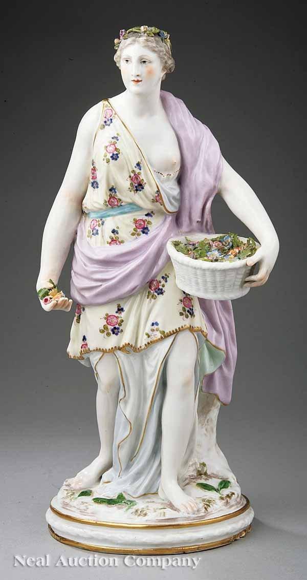 """0002: Samson Polychromed Porcelain Figure of """"Flora"""""""