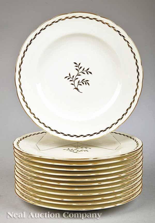 0003: Set of Twelve Royal Crown Derby Dinner Plates
